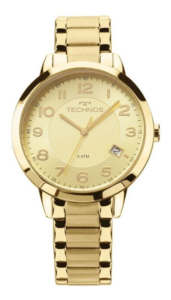 Relógio Technos Dourado Feminino 2315ACM4X
