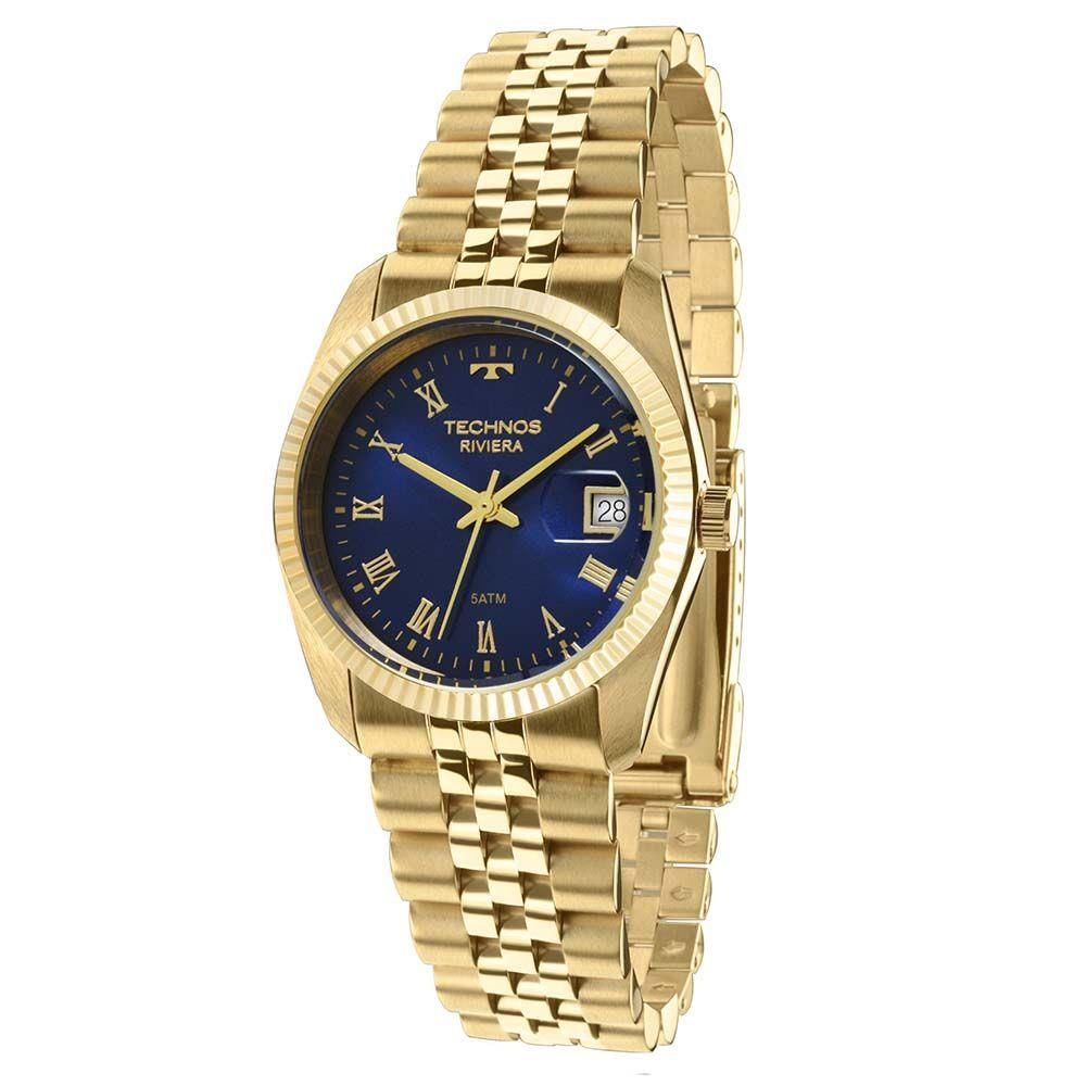 Relógio Technos Unissex Riviera Gm10yc/4a Dourado