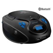 Caixa de Som Radio Boombox Bluetooth 20W RMS CD/USB/SD/FM/AUX Preto SP223