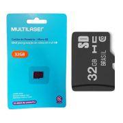 Cartão de Memória Classe 10 32GB Preto MC145