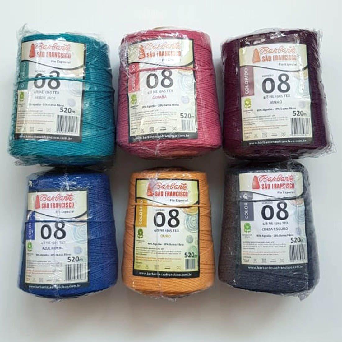 Barbante Colorido n8 para Trico Croche e Artesanatos