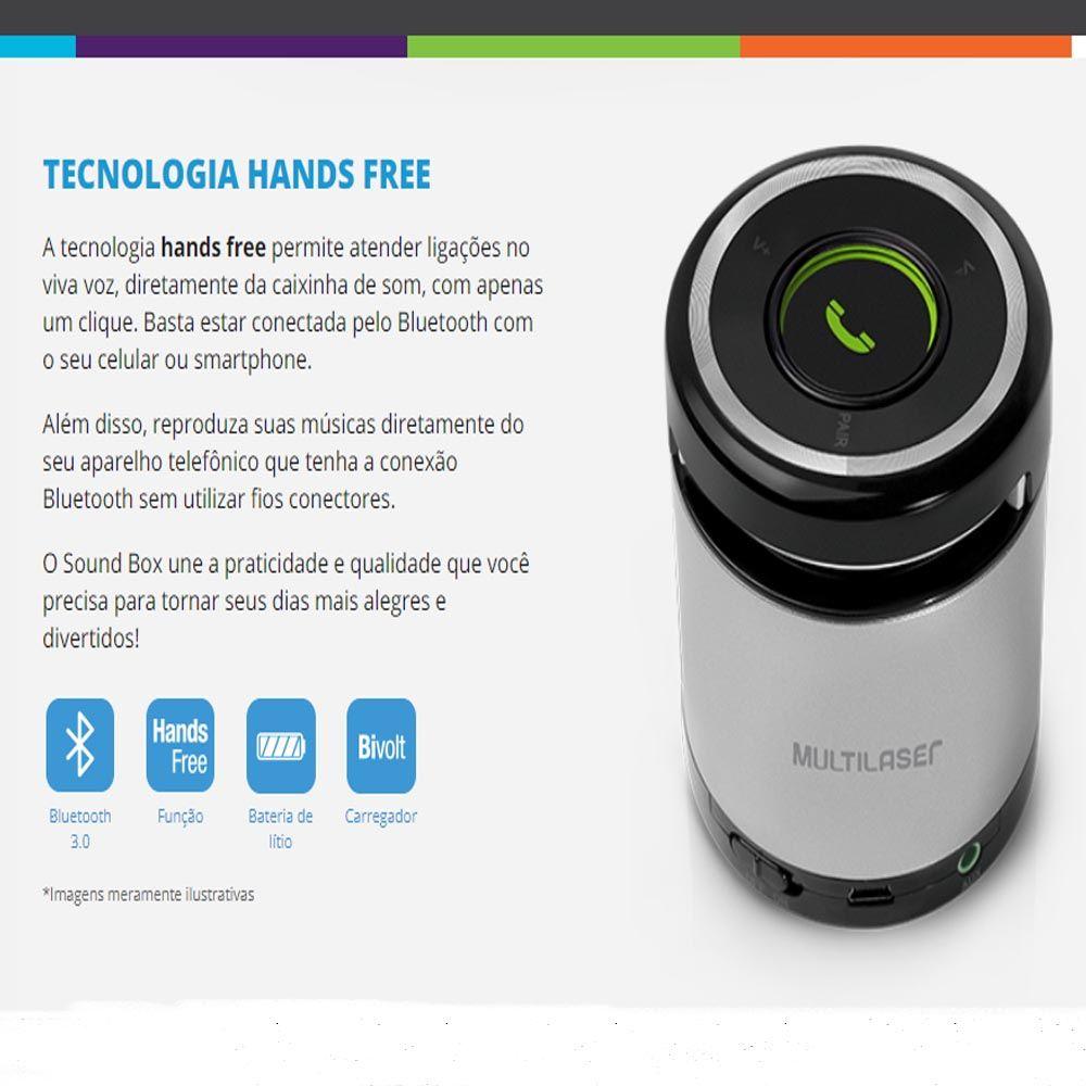 Caixa de Som com Bluetooth e atendimento de Telefone SP155