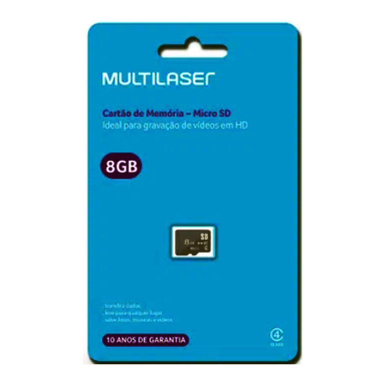 Cartão de Memória Classe 4 8GB Preto MC141