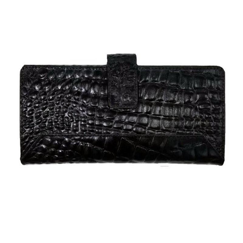 Carteira de Couro Feminina tipo Crocodilo Original de Mão Grande