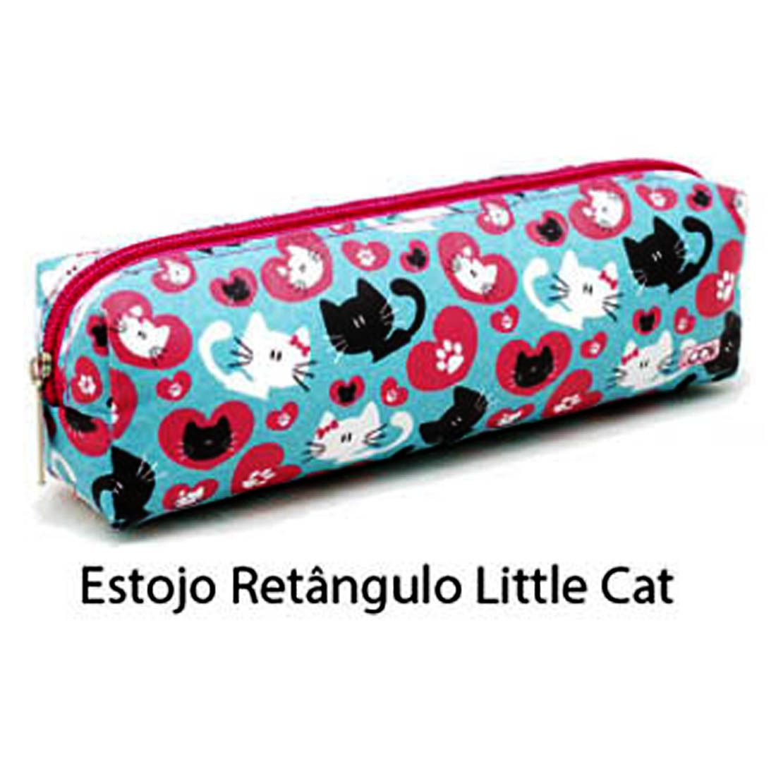 Estojo Escolar Feminino Infantil diversos Unicornio Litthe Cat Poa Love Dogs