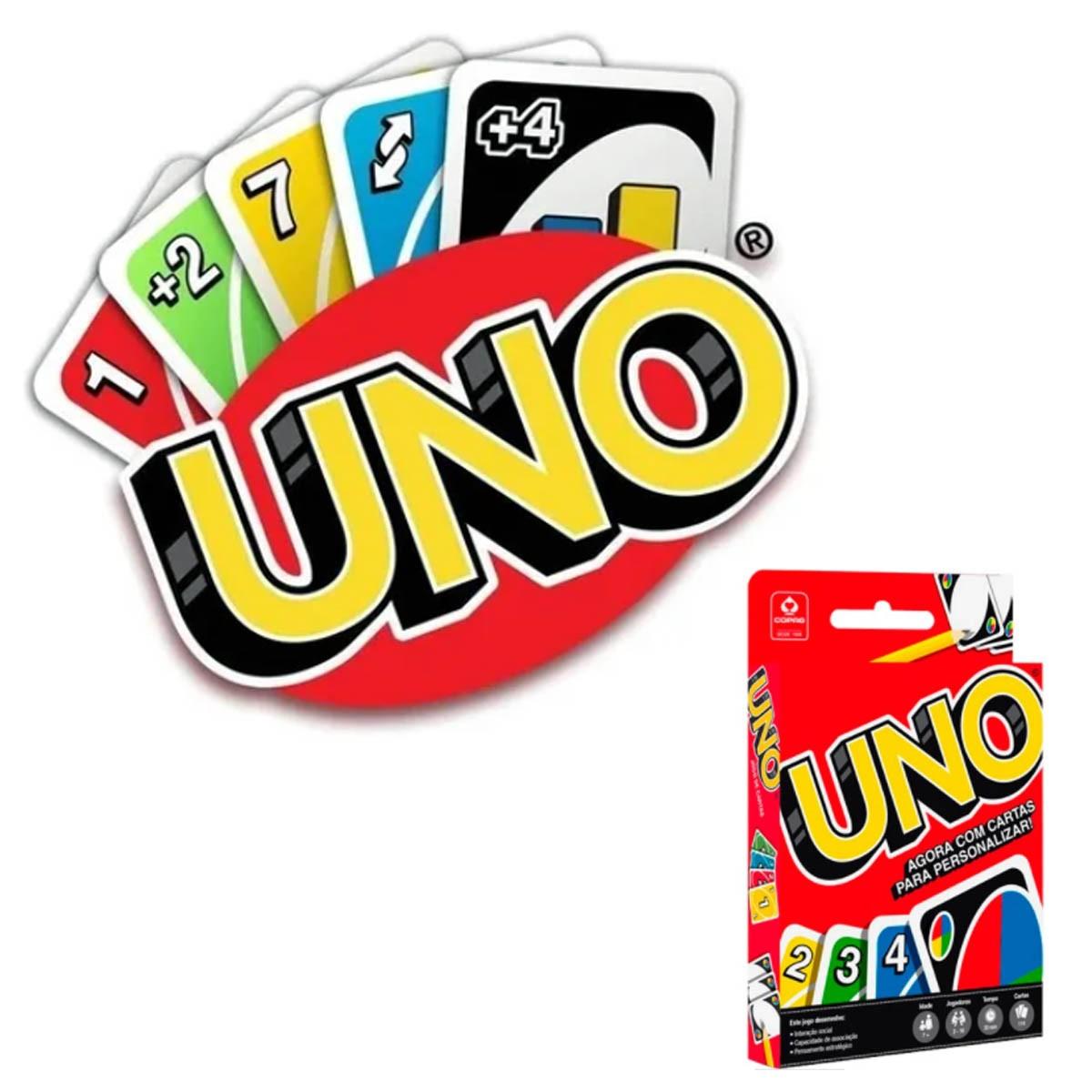Jogo de Cartas Uno com cartas para personalizar com 114 Cartas