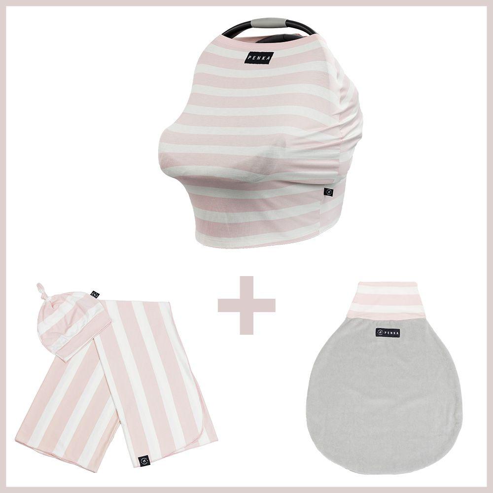 Kit Penka Aurora - Capa Protetora para Bebê + Saco de Dormir + Cueiro + Gorrinho