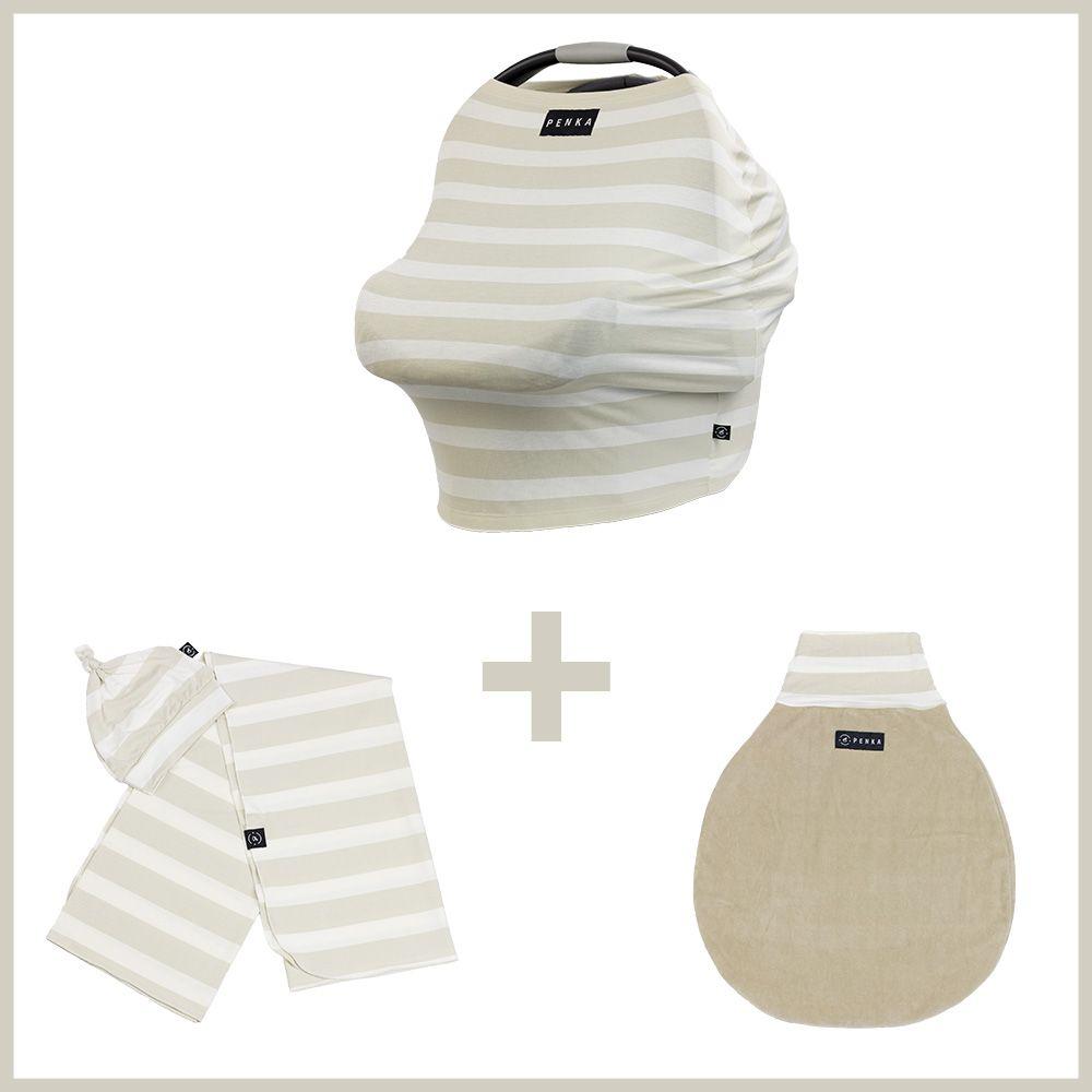 Kit Penka Mulan - Capa Protetora para Bebê + Saco de Dormir + Cueiro + Gorrinho