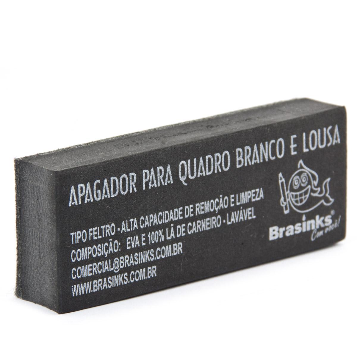 APAGADOR DE QUADRO BRANCO BRASINKS - LAVÁVEL