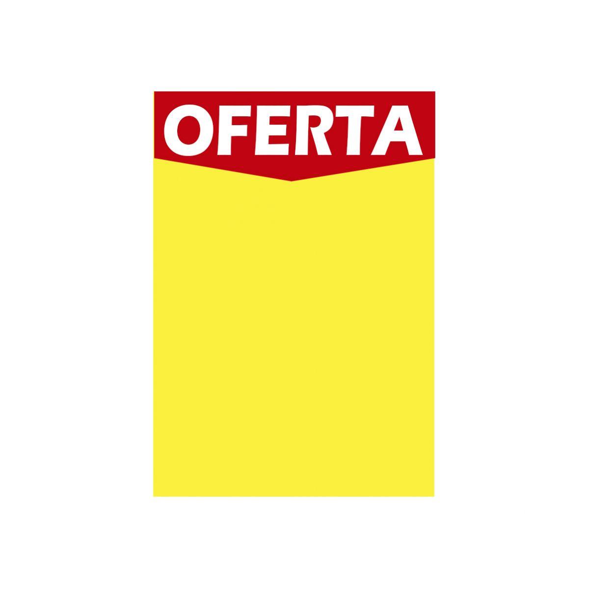 CARTAZ CHAPADO DUPLEX AMARELO Oferta 250 gr 30x45 cm