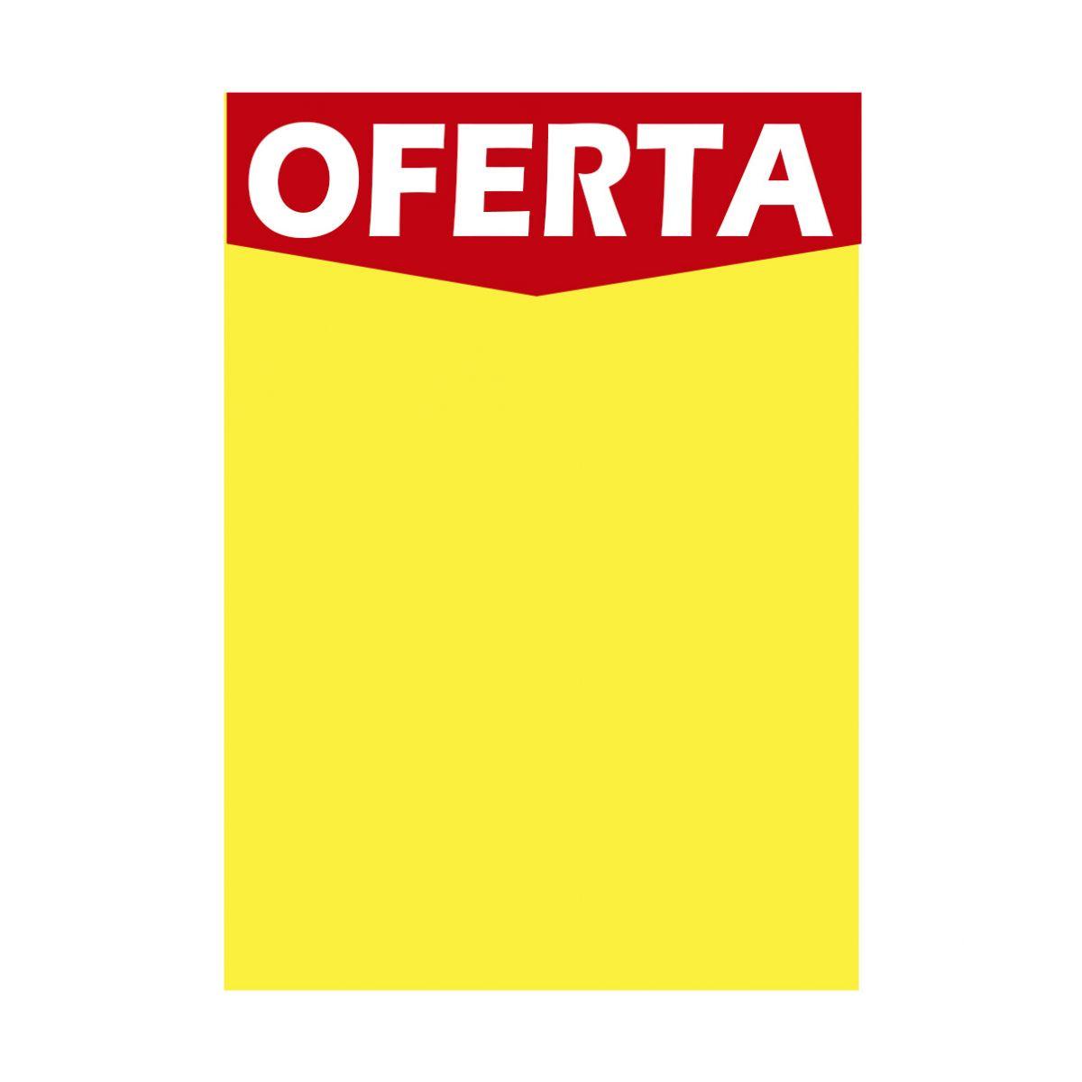 CARTAZ CHAPADO DUPLEX AMARELO Oferta 250 gr 44x62 cm