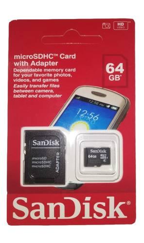 Cartão de memória Micro Sd Sandisk 64gb