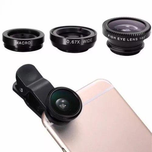 Kit Youtuber 8x1 - Microfone Lapela + Ring  LED Flash + Tripé 1,50m + Adaptador P2 + Kit Lentes 3x1 + Controle Bluetooth