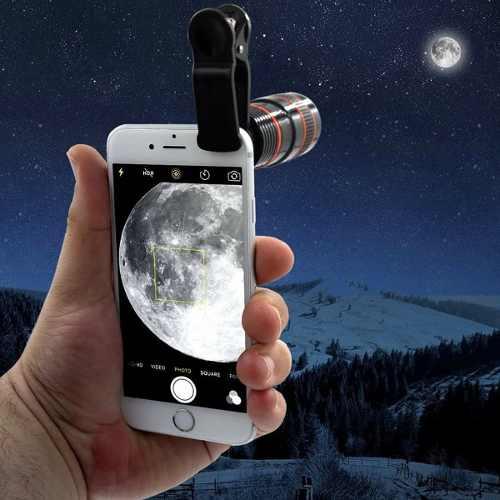 Luneta para Celular Telescópica Zoom Universal