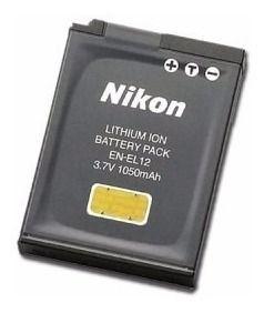 Bateria Nikon EN-EL12 Compatibilidade: Coolpix: P300, P310, P330, S31, S9100, S1000, S1000pj, S1100, S9700, S9500, S9300, S6000, S6001, S6150, S6200, S6300, S800, S800c, S8000, S8100, S610, S610c, S62