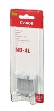 Bateria Canon NB-4L Compatibilidade:  Power Shot SD30, 40, 200, 300, 400, 430, 450, 600, 630, 750, 780, 960, 1000, 1100 e TX1