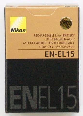 Bateria Nikon EN-EL15 Compatibilidade: Coolpix: D600, D610, D750, D7500, D7000, D7100, D7200, D800, D800E, D850 e Nikon 1 V1