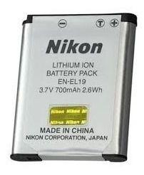 Bateria Nikon EN-EL19 Compatibilidade: Coolpix: S33, S3700, S3700, S32, S5300, S5300, S3400, S3400, S3500, S3500, S3300, S3300, S4300, S4300, S100, S100, S2500, S2500, S3100, S3100, S4100, S4100
