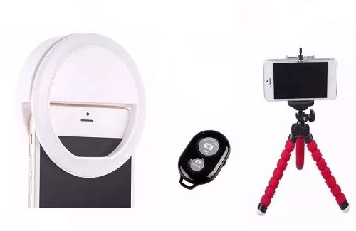 Ring Light Para Celular Mini Tripe Flexivel Controle Selfie
