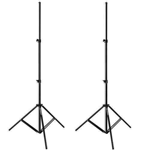Kit Com 2 Tripés Iluminação Mini Black Altura Máx 1,80m