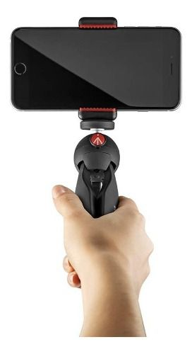 Mini Tripé Manfrotto Pixi Clamp P/ Smartphone, iPhone, Dslr