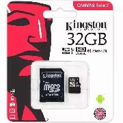 Cartão De Memória  Micro Sd Kingston 32gb Classe 10