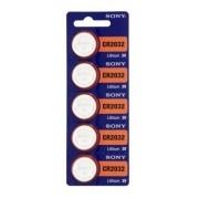 Bateria Sony Cr2032 Lithium 3v Cartela Com 5 Unidades