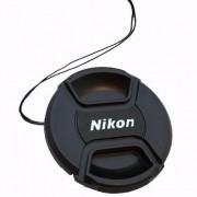 Tampa Frontal Com Logo Nikon Para Lente 67mm