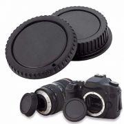 Kit Tampa Traseira Lente + Tampa do Corpo Câmeras Escolha Por Marca de Câmera