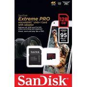 Cartão de memória Micro Sd Sdxc Sandisk Extreme 128gb Classe 10