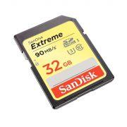 Cartão Memória Sd Sandisk 32 Gb 90mb/s Uhs-i Sdhc U3 Classe 10