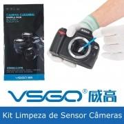 Kit de Limpeza de Sensor Câmeras Digitais c/ Haste ou Palheta e Microfibra