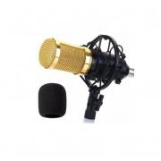Kit Microfone Condensador Cardióde Unidirecional Estúdio MT1026