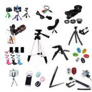 Kit Youtuber 20x1 Super Completo com Tripé 1,80m Lapela Celular luneta led ring Lente 20 Itens