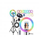 Kit Youtuber 7x1 Tripé De Celular Lapela Ring Light Colorido