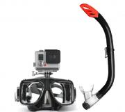 Mascara Mergulho Snorkel Para- Gopro Câmera De Ação