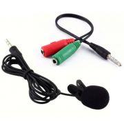 Microfone De Lapela Stereo Com Adaptador P/ Smartphones