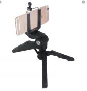 Mini Tripé Grip 2 Em 1 Para Câmeras Dslr Gopro