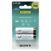 Pilhas Recarregáveis Sony 2500 mAh Embalagem com 2 Unidades