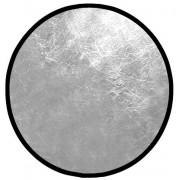 Rebatedor Circular Dobrável Prateado E Branco Ø 0,82m