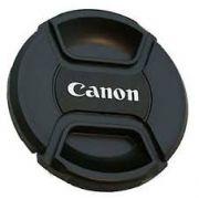 Tampa frontal com Logo Canon para Lente 62mm