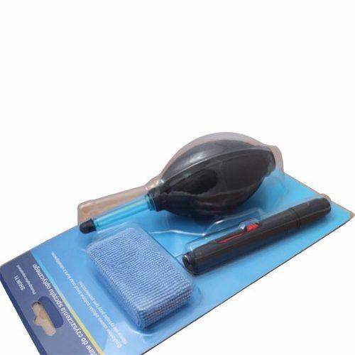 Kit para Limpeza Lentes e Cameras Dslr 3 Em 1 com Caneta, Soprador e Pano