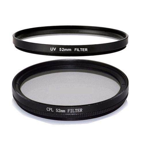 Kit 52mm UV + Tulipa + CPL