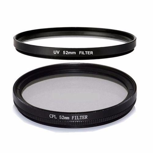 Kit 52mm UV + Tulipa + CPL