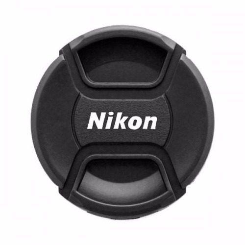 Tampa Frontal Com Logo Nikon Para Lentes 72mm