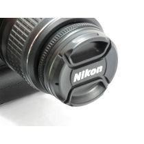 Tampa Frontal Com Logo Nikon Para Lente 62mm