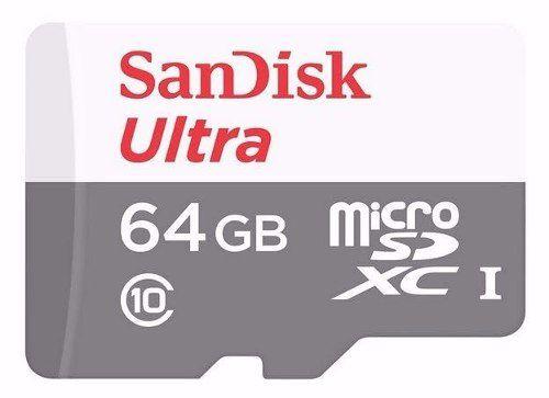 Cartão de memória Micro Sd Ultra 64 GB Sandisk 80mb/s Classe 10