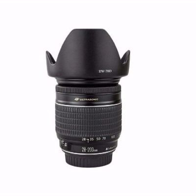 Parasol Ew-78d Para Lente Canon EF 18-200MM f/3.5-5.6 IS USM Canon EF 28-200mm f/3.5-5.6 USM Canon EF 28-200mm f/3.5-5.6