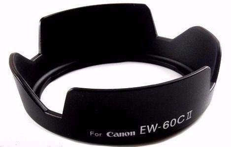 Parasol Ew-60Cii CANON EF-S 18-55mm f/3.5-5.6  CANON EF-S 18-55mm f/3.5-5.6 IS  CANON EF-S 18-55mm f/3.5-5.6 II  CANON EF-S 18-55mm f/3.5-5.6 II USM  CANON EF 28-90mm f/4-5.6 II USM C  CANON EF 28-80m