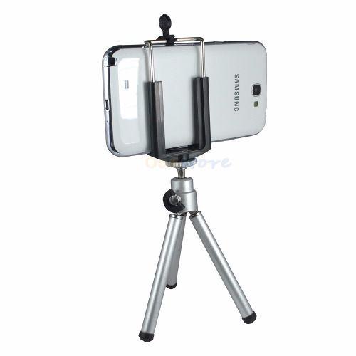 Kit Youtuber 6x1 - Mini Tripé + Bastão Selfie com Suporte Celular + Controle + Microfone Lapela com Adaptador + Led Ring